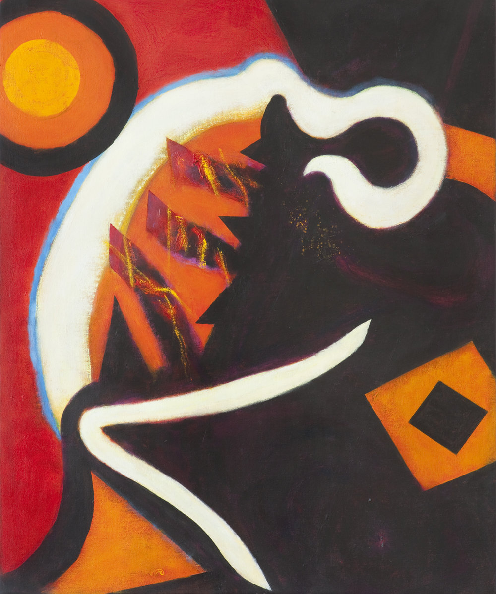 The Night the Harp Broke, 2011  Acrylic on canvas  34 x 27 1/4 inches