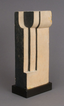 Untitled (Form in Space)   c. 1920  Painted terra cotta 7 3/4 x 3 1/4 x 2 1/4 inches