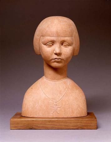 Monique, 1924 Terra cotta 13 3/4 x 7 1/2 x 8 1/2 inches