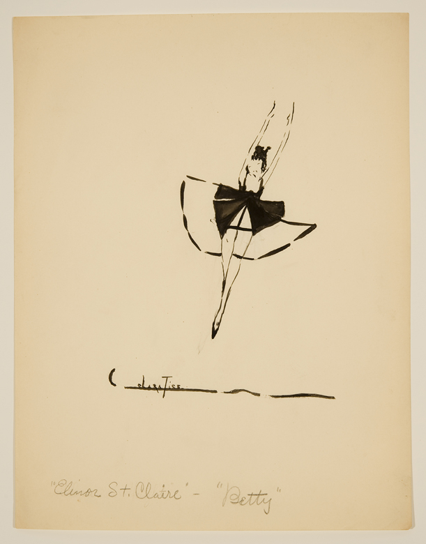 Drawing of woman jumping