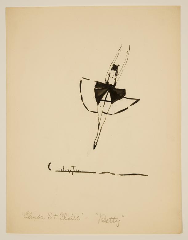 Drawing of woman jumping