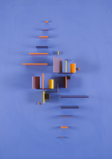 #34 Aix,  1972 Painted aluminum 42 1/2 x 30 x 7 inches