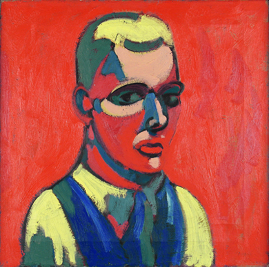 Self Portrait,  1934 Oil on canvas 16 x 16 1/8 inches