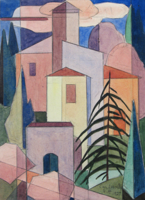 Carl Holty  Landscape, Locarno, 1927 Watercolor and pencil on paper