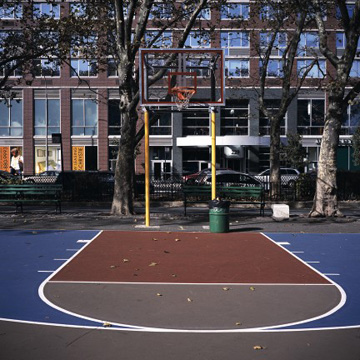 Photo of basketball court
