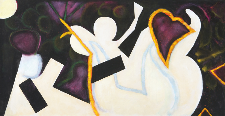 Little Angel of the Pike,  2009 Acrylic on canvas  33 x 58 inches