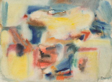 Abstract watercolor shapes