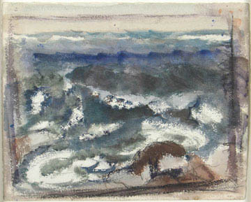The Sea,  1923 Watercolor on paper 13 5/8 x 16 3/4 inches