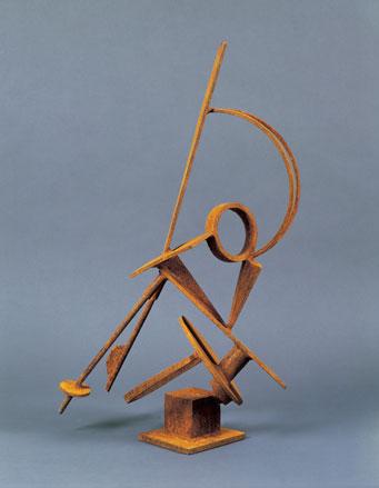 Brown geometric sculpture