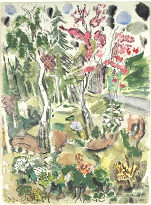 Untitled (Landscape),  1939  Watercolor on paper  21 1/4 x 15 1/2 inches