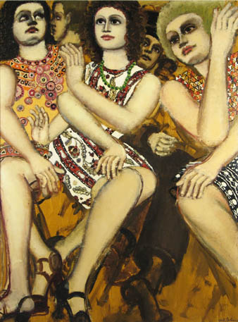 Three Ladies #2 , 1976 Oil on canvas 40 x 30 inches  Inquire