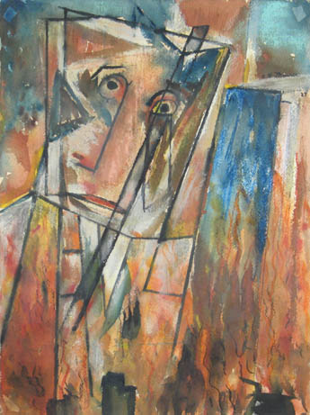 Cubist Head , 1927 Watercolor on paper 15 7/8 x 12 inches  Inquire