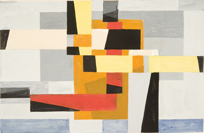 Untitled Abstraction No. 68 , 1941 Gouache on paper 8 7/8 x 13 3/4 inches  Inquire