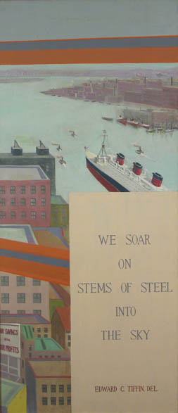 View From a Skyscraper , c. 1925-30 Oil on canvas 78 x 35 inches  Inquire