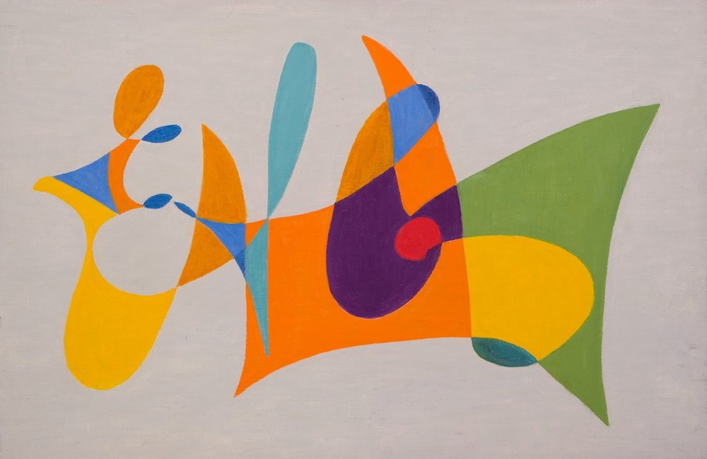 C-68 , 1968 Oil on canvas board 26 x 36 inches  Inquire