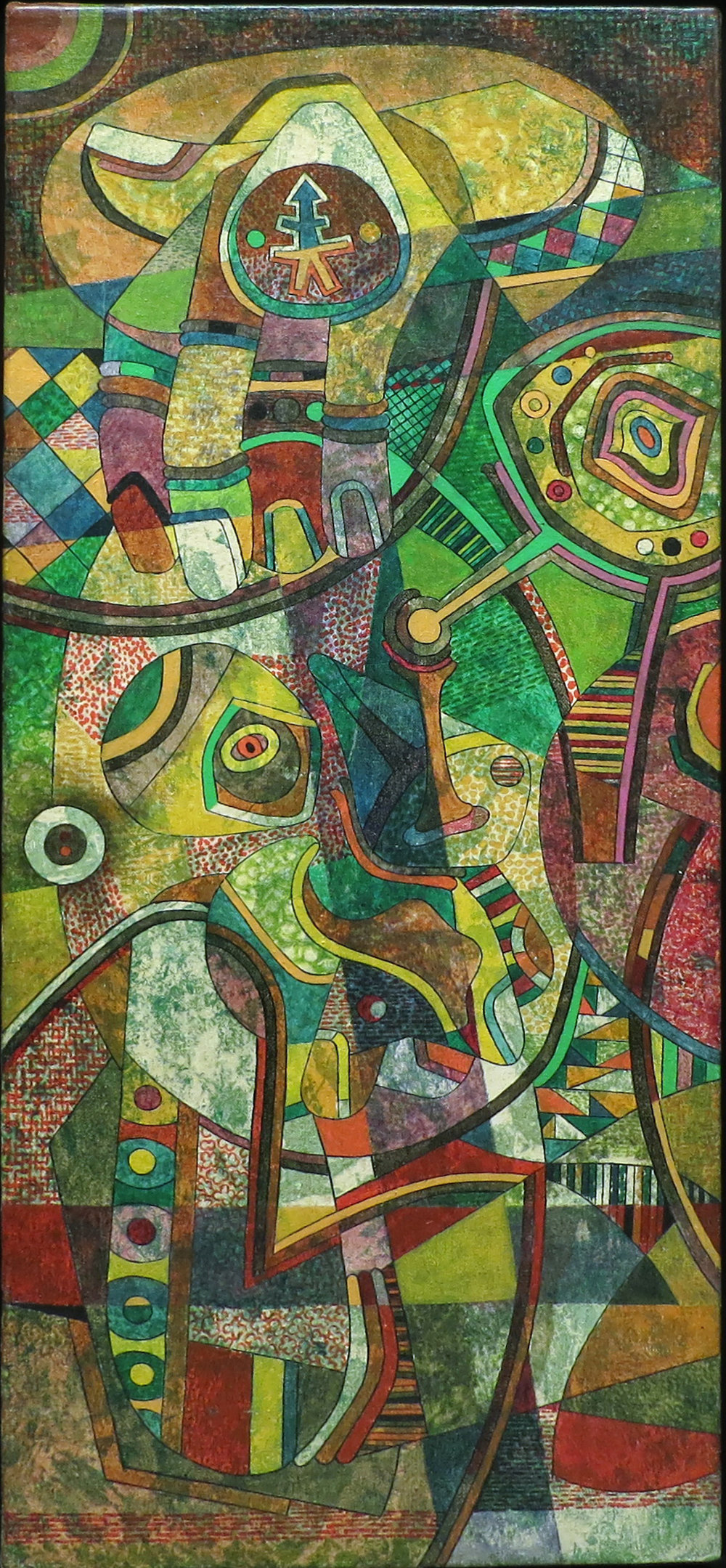 Motif from Big Shape (Vertical) , c. 1950's Oil and ink on canvas 35 x 11 inches  Inquire