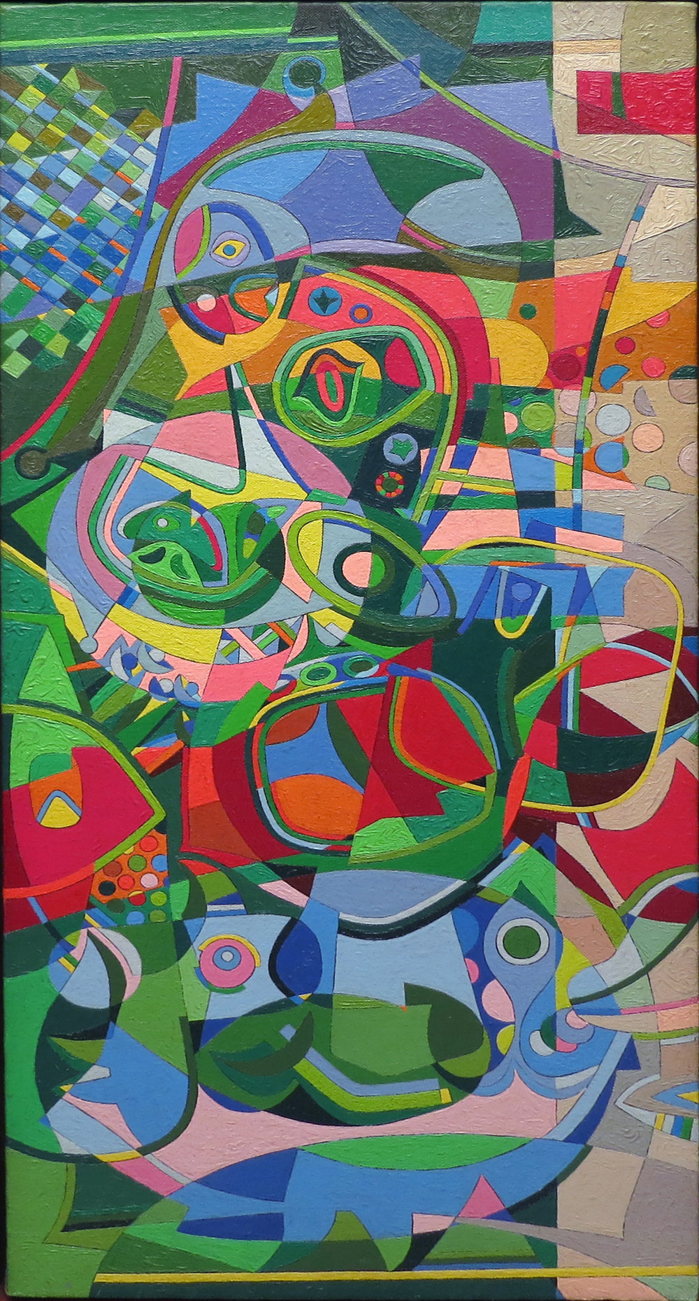Untitled , c. 1950's Oil on canvas 34 x 16 inches  Inquire