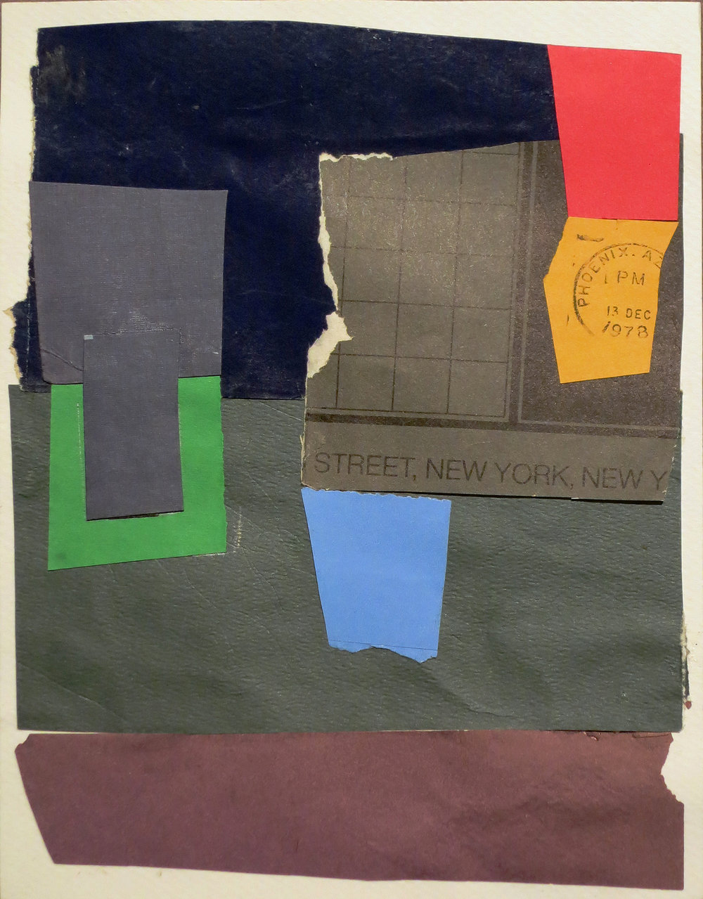 Untitled,  c. 1995-2000 Collage on cardboard 8 x 6 1/4 inches  Inquire
