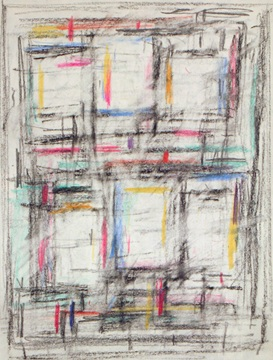 Michael Loew: # Works on Paper from the 1940s # and 1950s # March 20 – April 25, 2009 <alt: Abstract lines on white background</>
