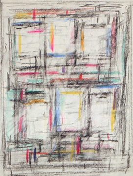 Untitled (Space Forms),  1957  Pastel on paper  11 1/8 x 8 1/2 inches