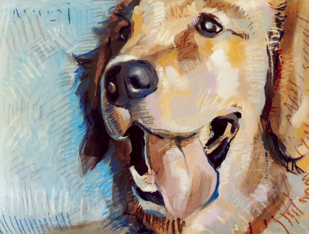 "Tim Jaeger, ""Independence""/July- Southeast Guide Dogs 2016 Calendar"