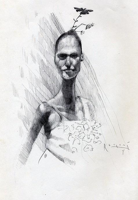 Tim Jaeger, Dancer with Flower on Head, 2009