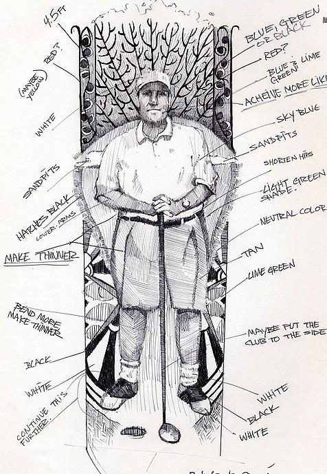 Tim Jaeger, Concept Sketch of Dr. Bob, 2007