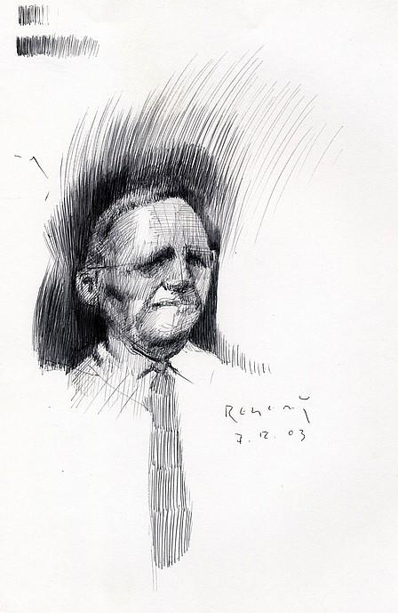 Tim Jaeger, Hooten Concept Sketch #3, 2003