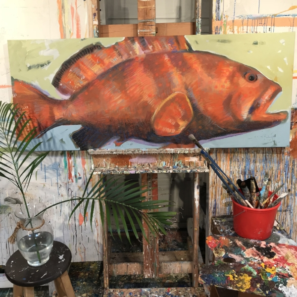 Tim Jaeger, Orange Grouper no. 1, 2017