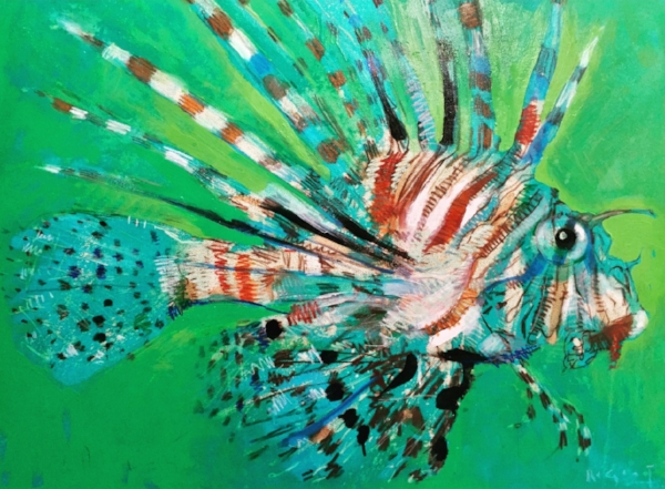 Tim Jaeger, Trashfish no. V (Lionfish no. II), 2017