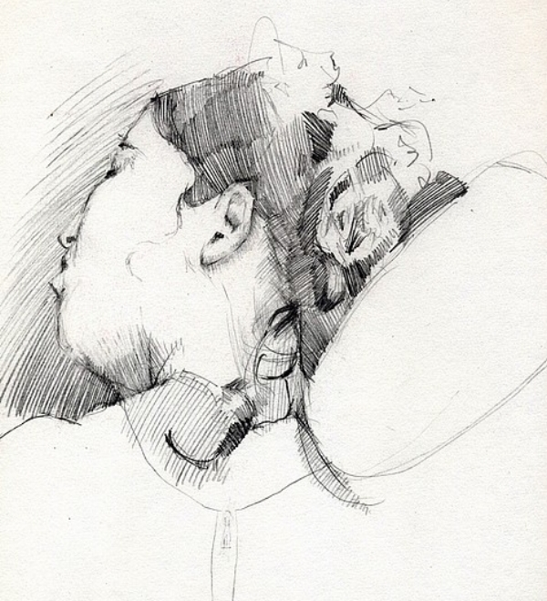 Tim Jaeger, Study of Woman Sleeping at the Airport, 2010