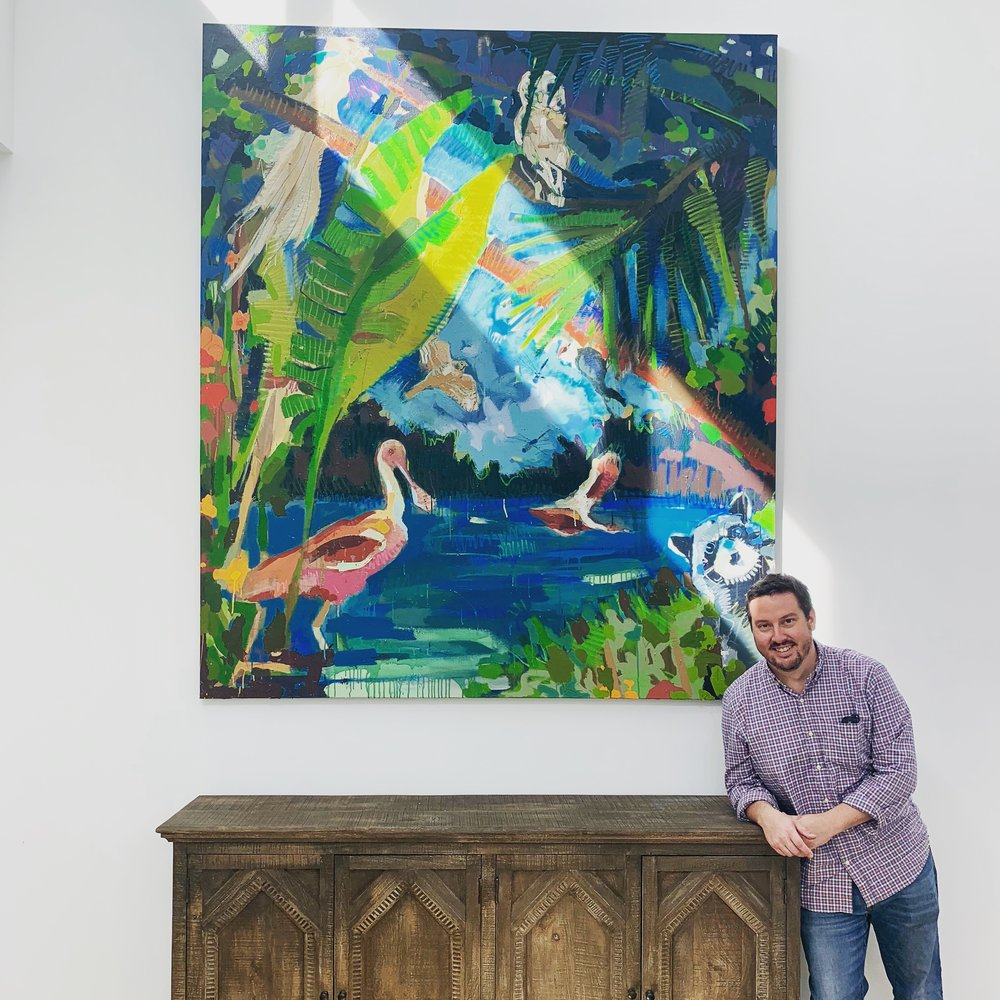 Tim Jaeger with painting