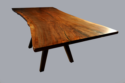 Claro Walnut Live Edge Table