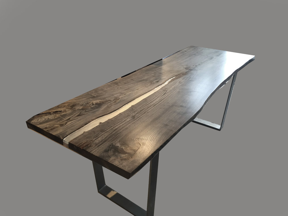 Gray English Elm Table