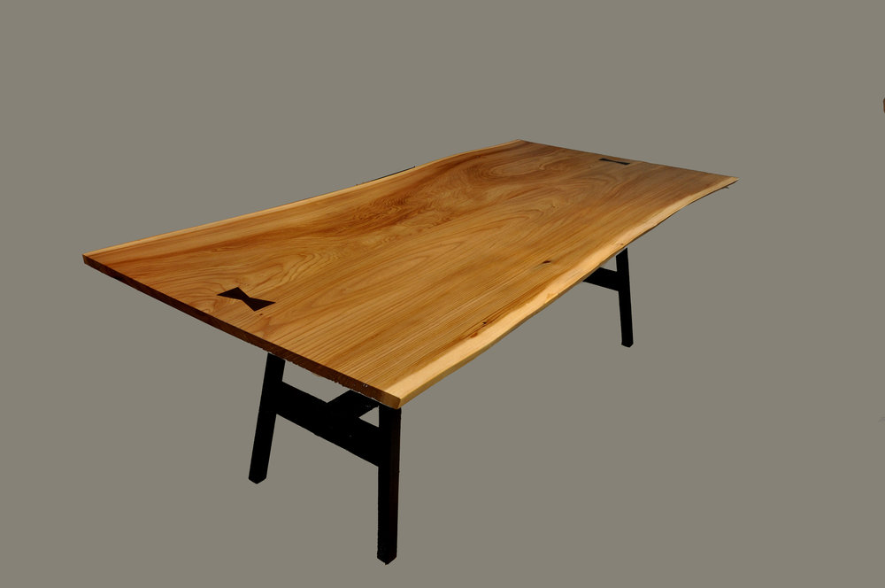 English Elm Live Edge Table