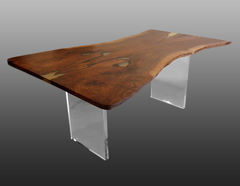 Claro Walnut Live Edge Table Top