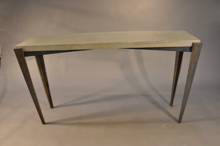 Tapered Steel Table Base Tall
