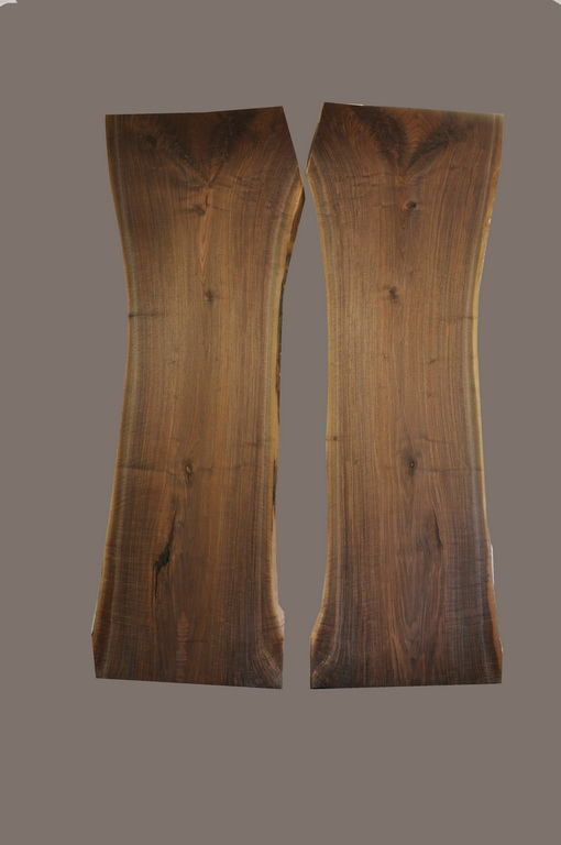 Walnut Book Match Slab Pair