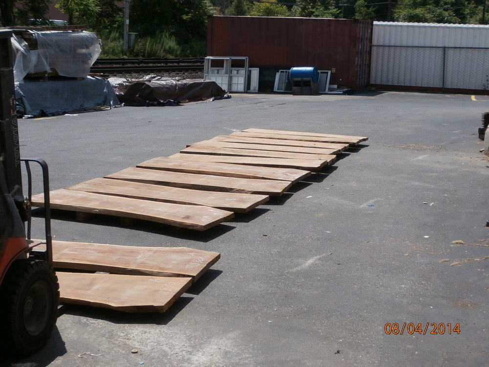 Live Edge Slabs for Selection