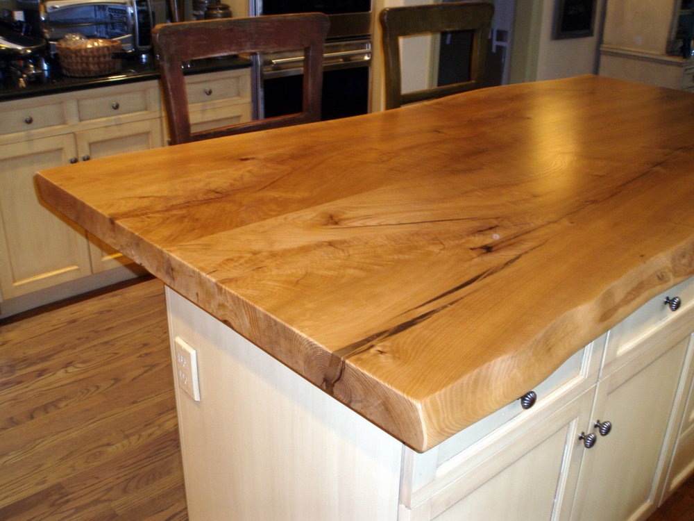 Live Edge Maple Kitchen Island