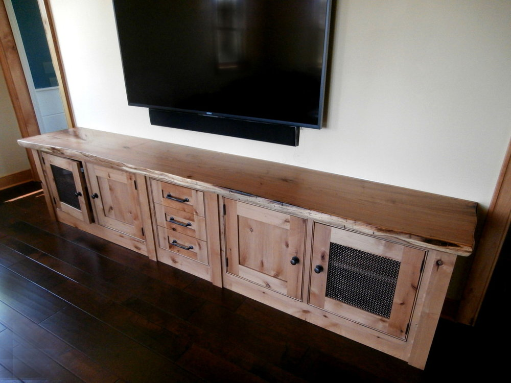 English Elm Live Edge Credenza