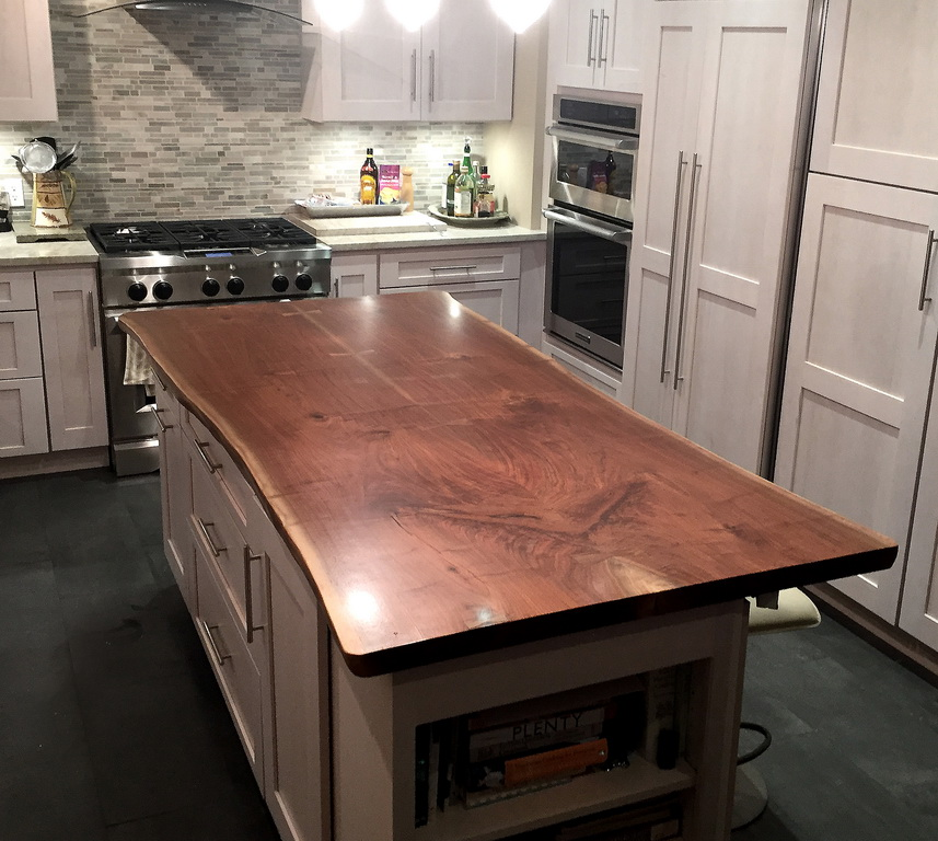 Live Edge Countertops - Gallery of Live Edge Wood Kitchen Island and Counter Tops