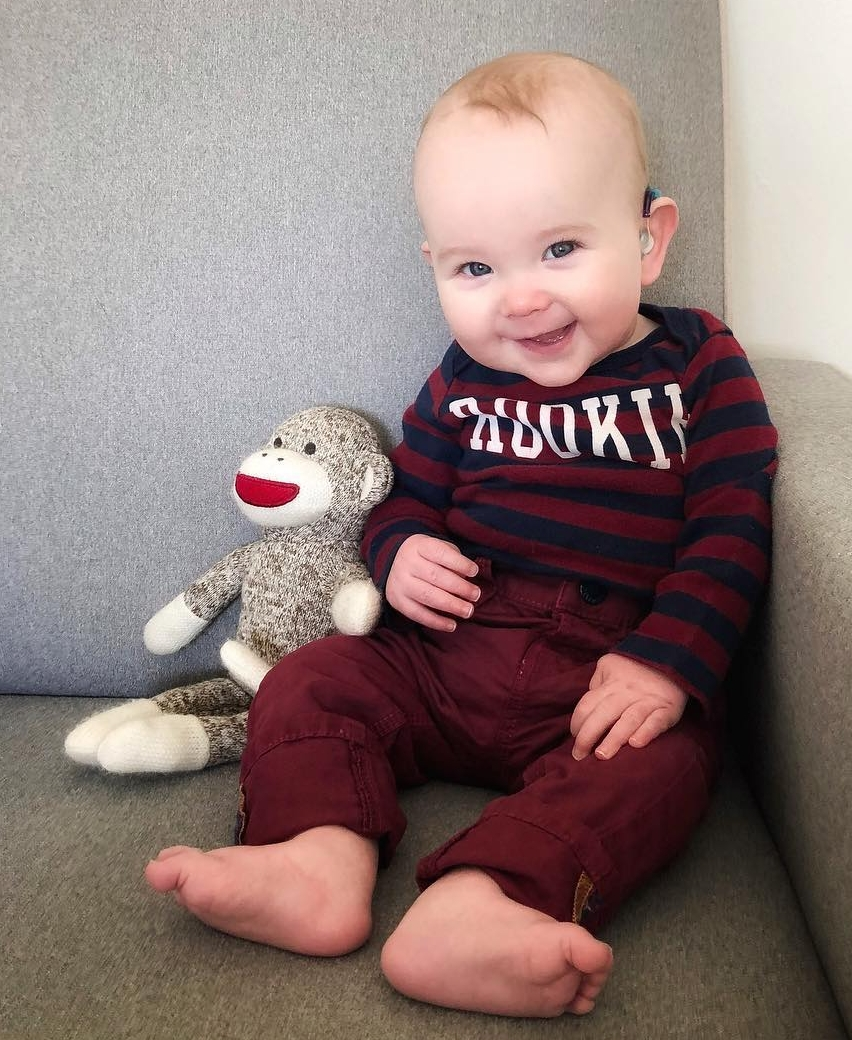 Asher (6 months) born deaf