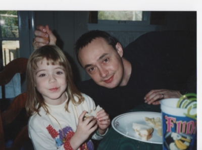 My daughter, Hannah, and me during her childhood.
