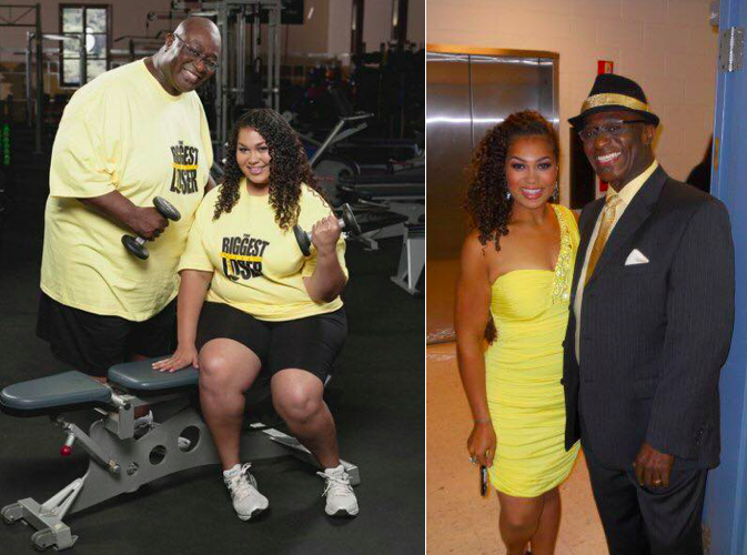 O'Neal and SunShine on The Biggest Loser in 2009.