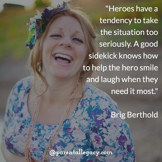 """Heroes have a tendency to take the situation too seriously. A good sidekick knows how to help the hero smile and laugh when they need it most.""⠀ ⠀ @Brig_Berthold⠀ ⠀ BOOK CONTEST: SIDEKICK, A Pregnancy Field Guide For Dudes⠀ Click on the link in our bio to enter.⠀ Contest Rules: You must be at least 18 and a legal resident of the US to participate. You enter by signing up for Parental Legacy Newsletter and providing a life lesson about pregnancy. You increase your chances of winning by continuing to promote the book to others. In doing so you are helping spread the word about Brig Berthold's new book!⠀ ⠀ Photo Credit: Amy Jarrett Hill"