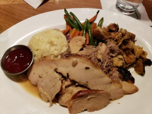 Turkey Dinner at Cooper's Hawk
