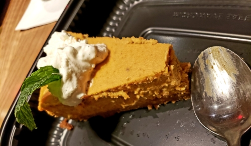 Pumpkin Cheesecake at Cooper's Hawk
