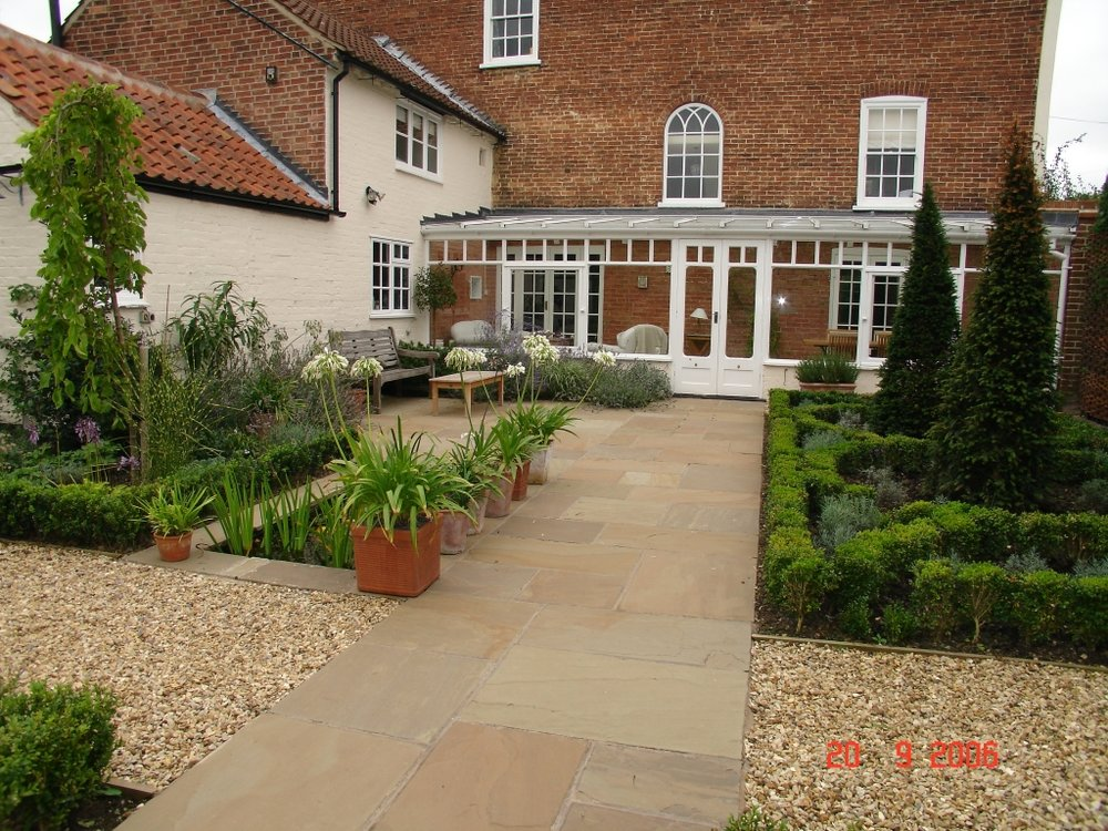 The finished garden