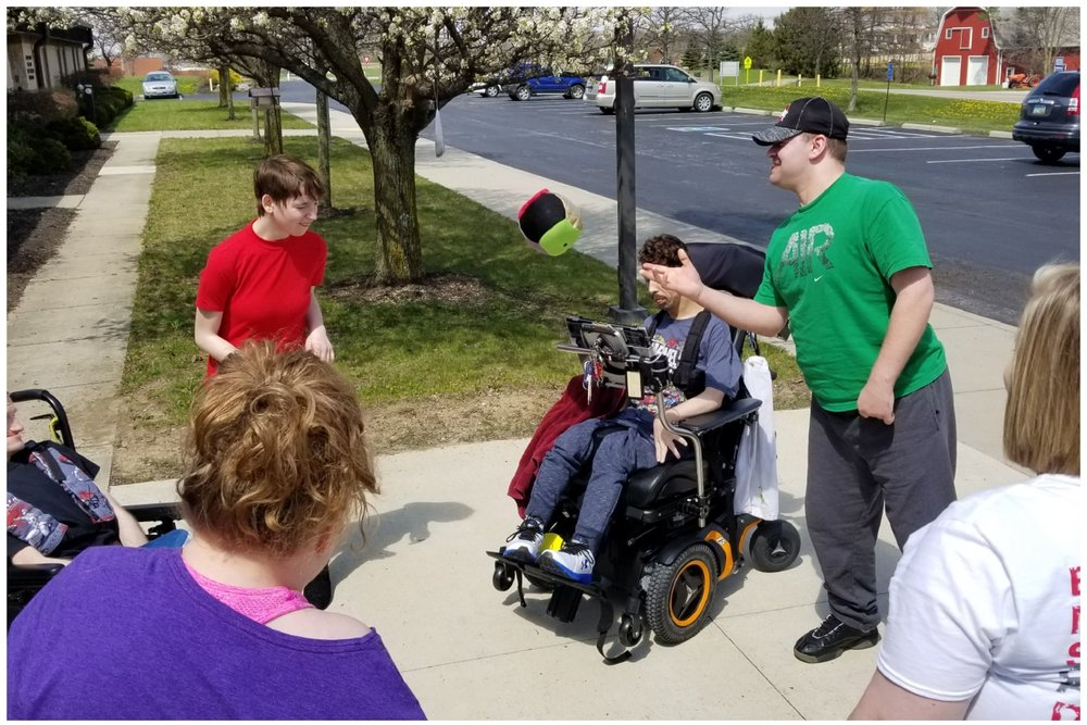 ADS members enjoying a game outside
